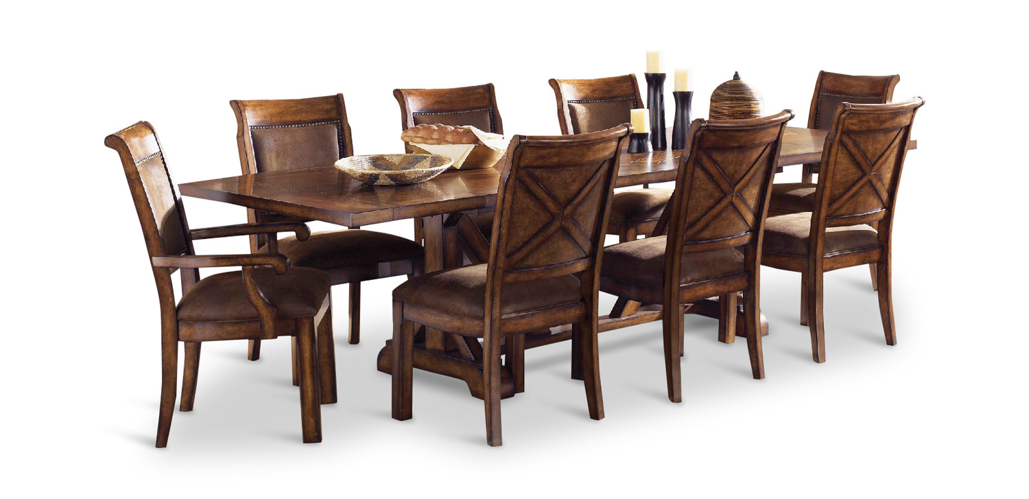 Larkspur Trestle Table And 4 Side Chairs ...