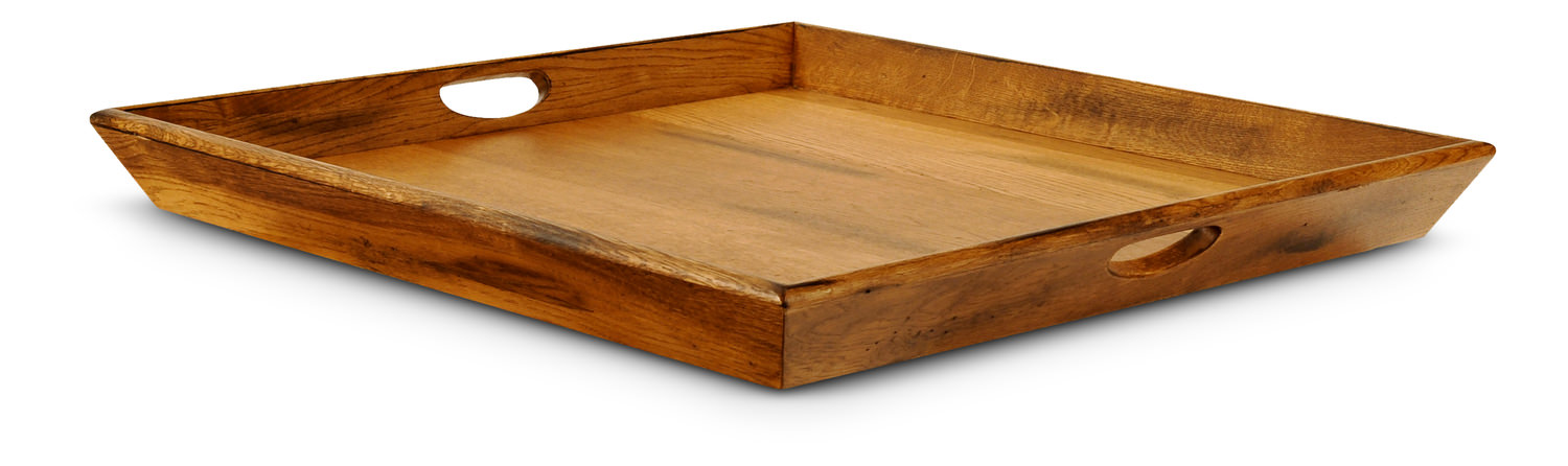 Square wooden ottoman tray hom furniture