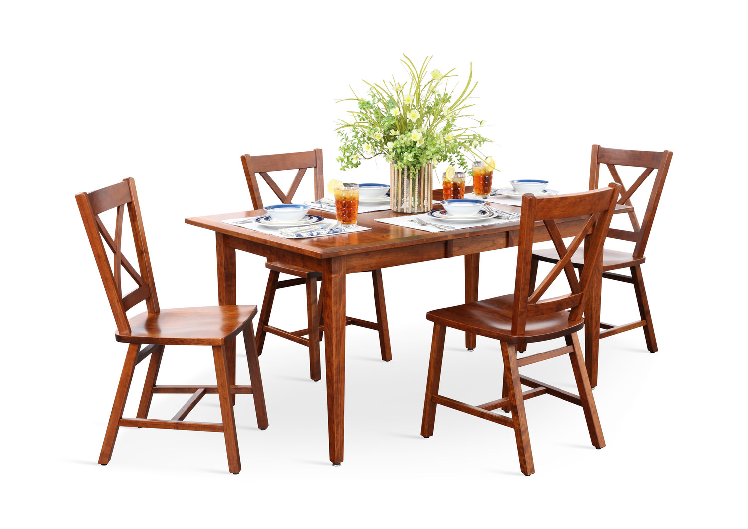 Excellent Eagle Mountain Dining Table And 4 X Back Chairs Home Interior And Landscaping Mentranervesignezvosmurscom