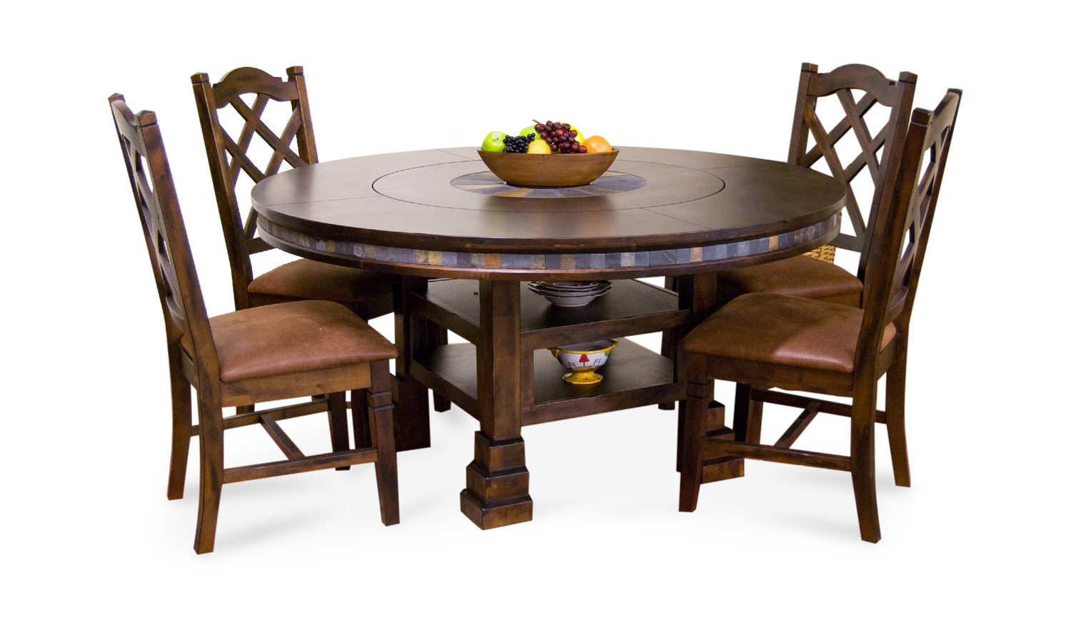 Charmant Santa Fe Round Table With 4 Side Chairs ...