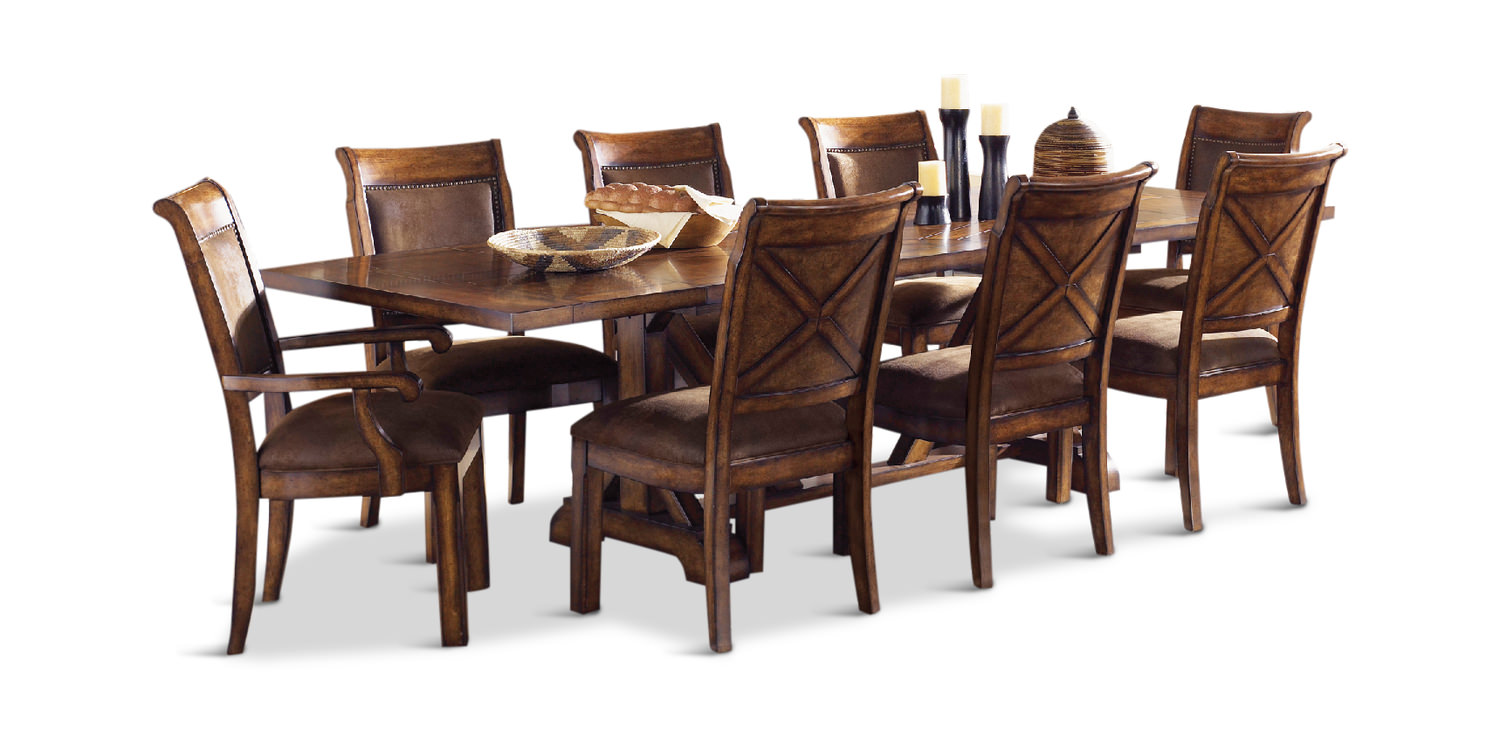 Larkspur Table With 4 Side Chairs And 2 Arm Chairs ...