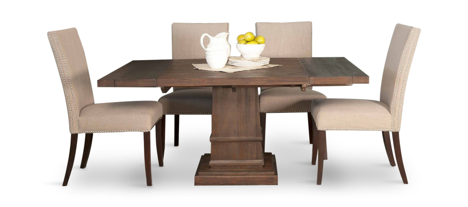 Gentil Hudson Square Table With 4 Side Chairs ...