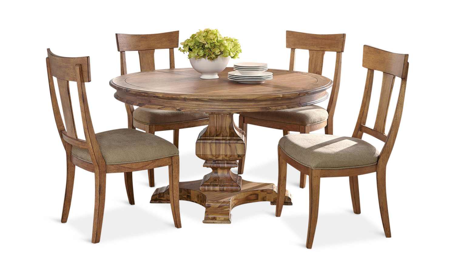 Wellington Hall Round Dining Table With 4 By Hom Furniture