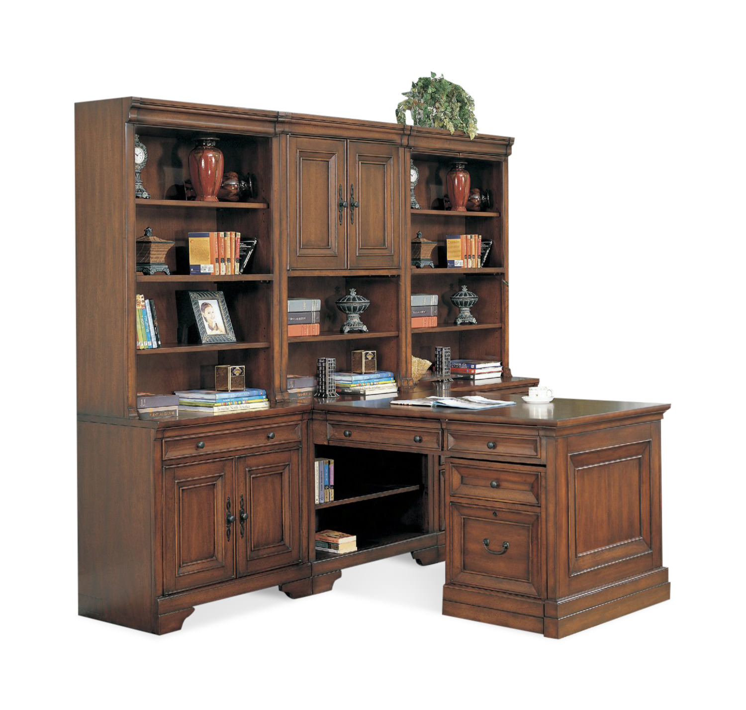 Richmond 2 Bay Cherry Modular Office Hom Furniture