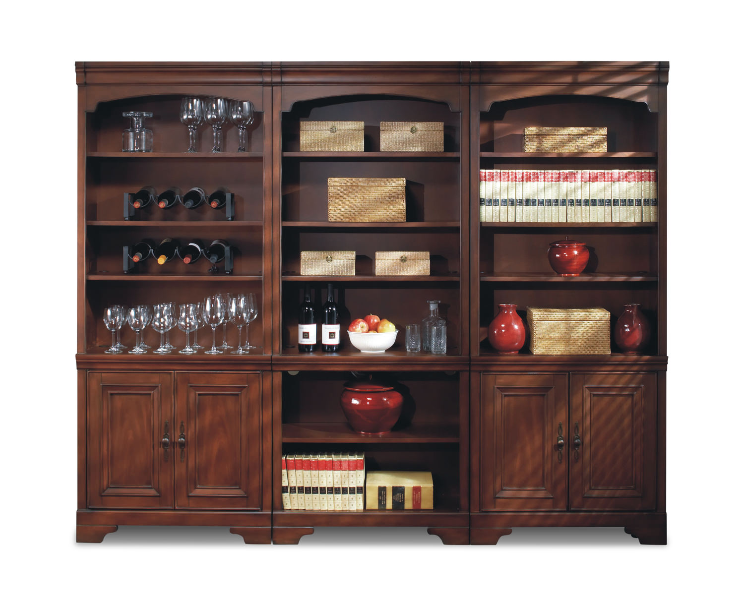 Richmond Cherry Door Bookcase ...