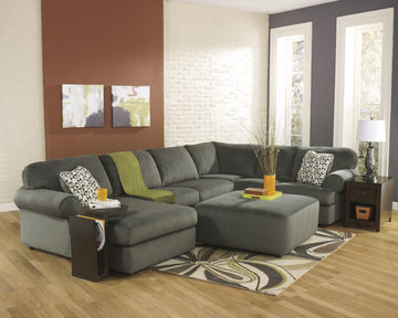 Image Coach 3 Piece Sectional   Pewter