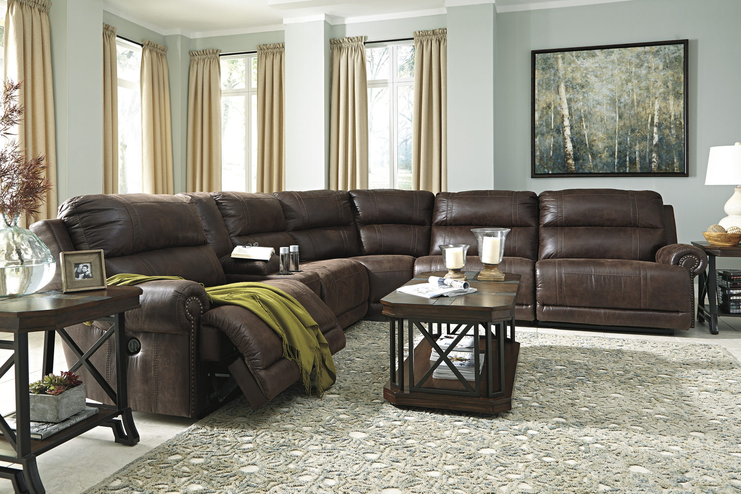 Placer 6 Piece Reclining Modular Sectional