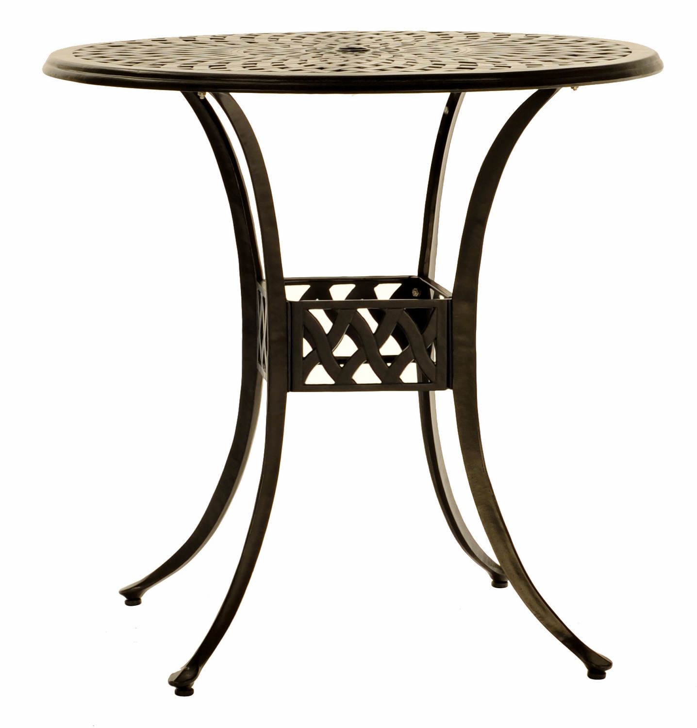 42u2033 Round Bar Height Cast Aluminum Table ...