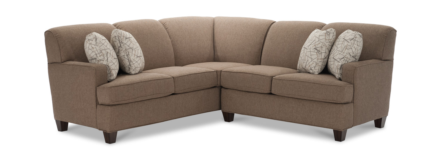 Image tunney 2 piece sectional right arm facing loveseat