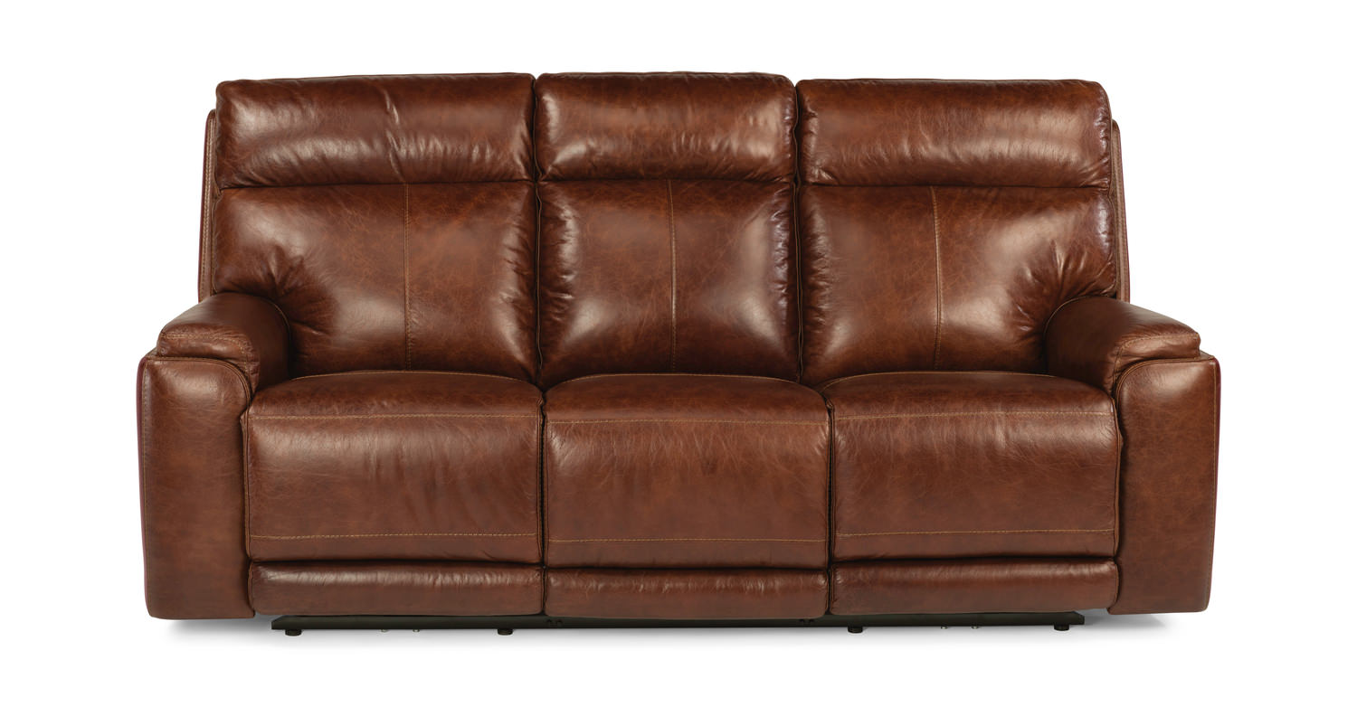 Sienna Leather Dual Power Reclining Sofa By Hom Furniture