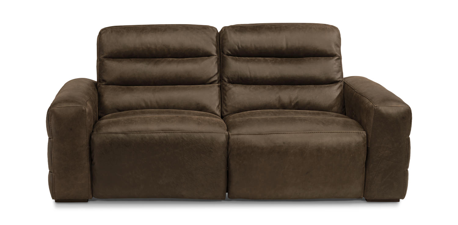 Levi Leather Power Reclining Sofa By Hom Furniture
