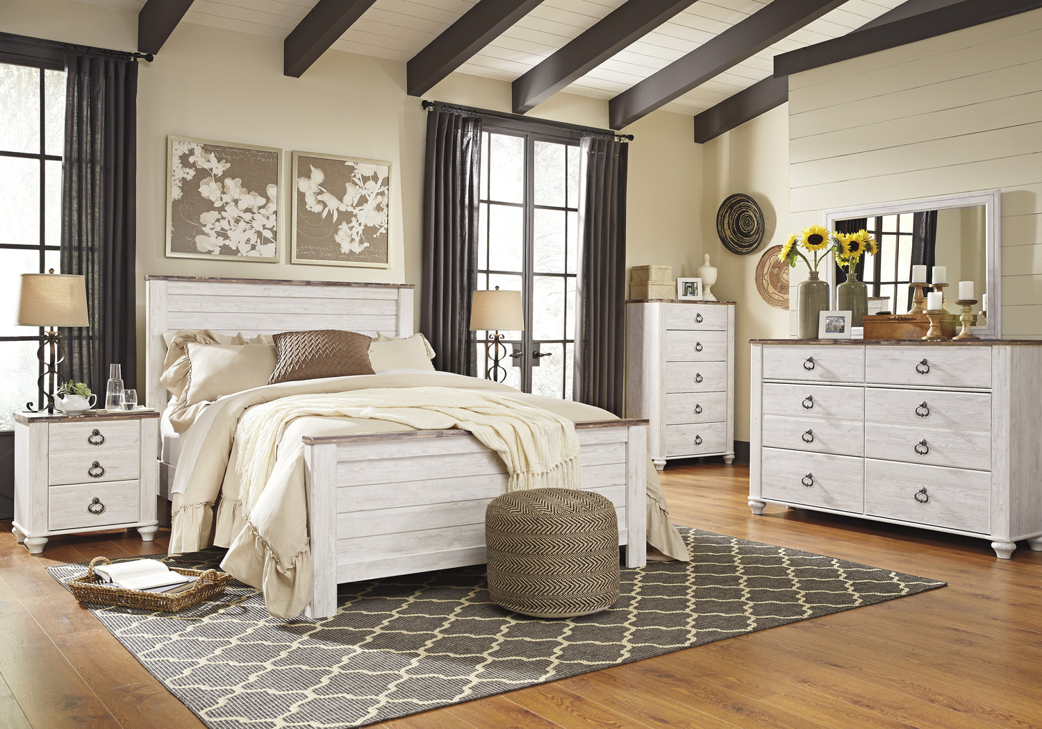 willowton bedroom suite dock86. Black Bedroom Furniture Sets. Home Design Ideas