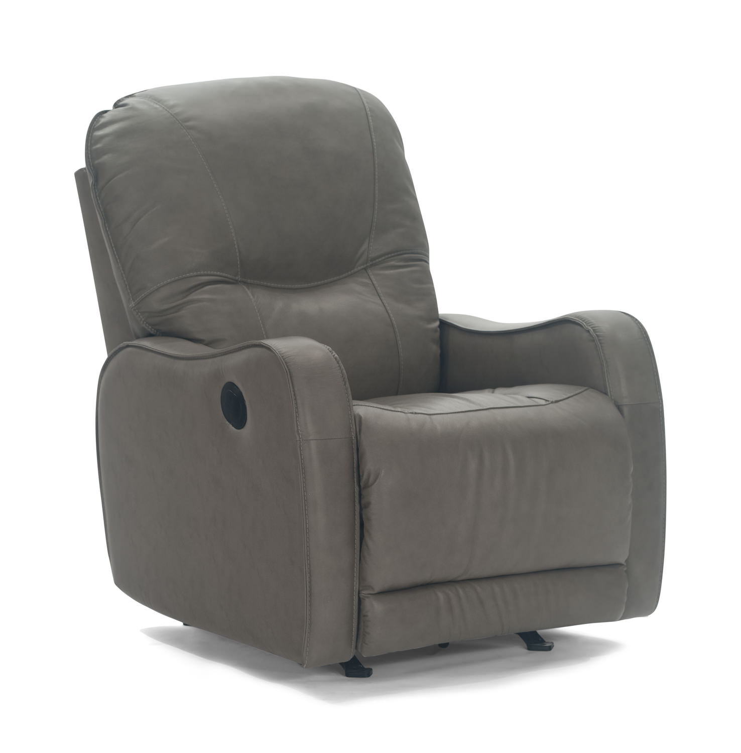 Yates Leather Power Rocker Recliner Hom Furniture