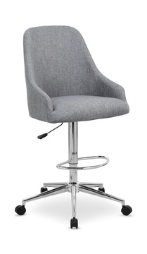 Image Grey Adjule Height Office Stool