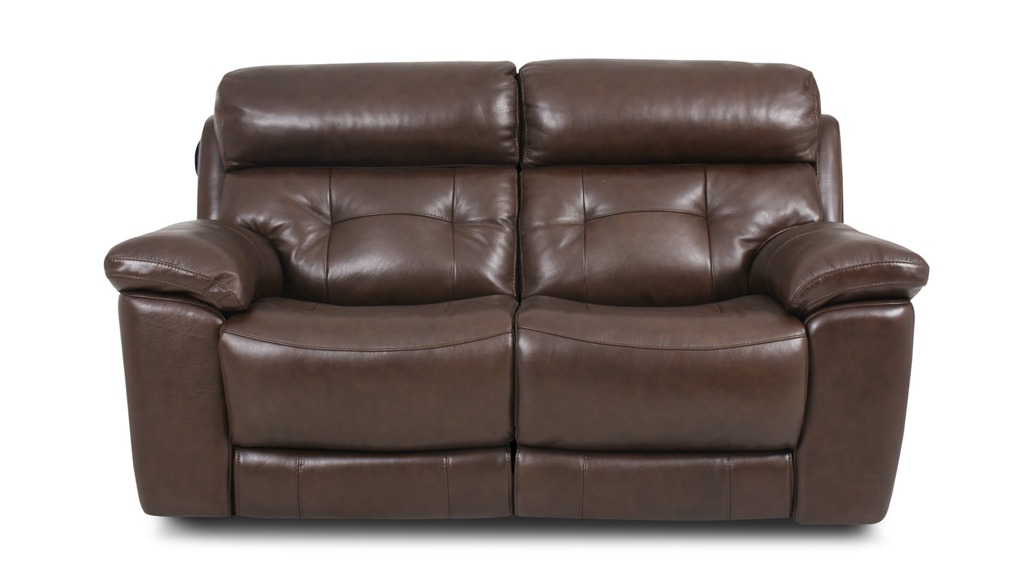 Keller Leather Dual Power Reclining Loveseat Hom Furniture