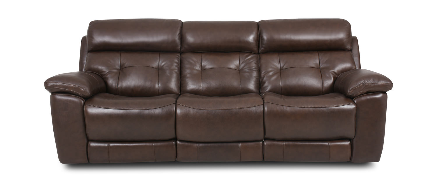 Keller Leather Power Reclining Sofa by Cole | HOM Furniture