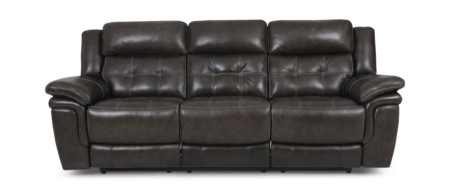 Hallmark Leather Power Reclining Sofa By Hom Furniture