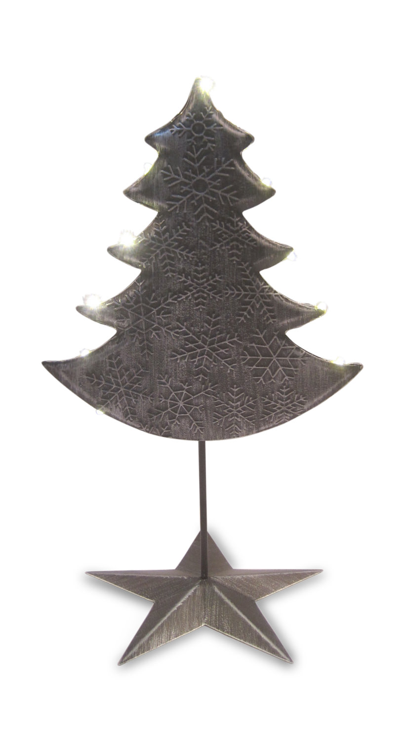 Small Metal Tree Sculpture With Led Lights