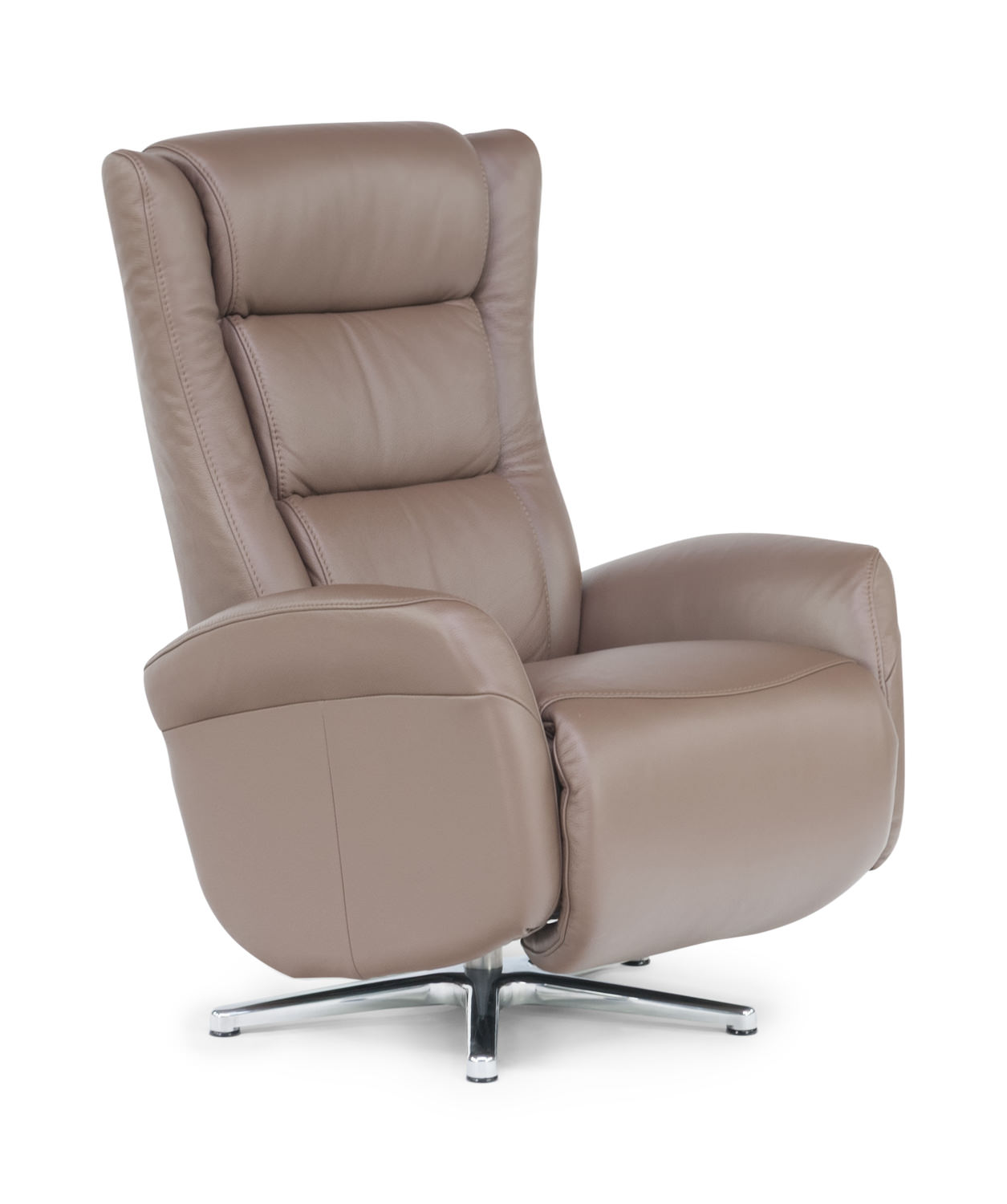 Gert leather swivel recliner lever