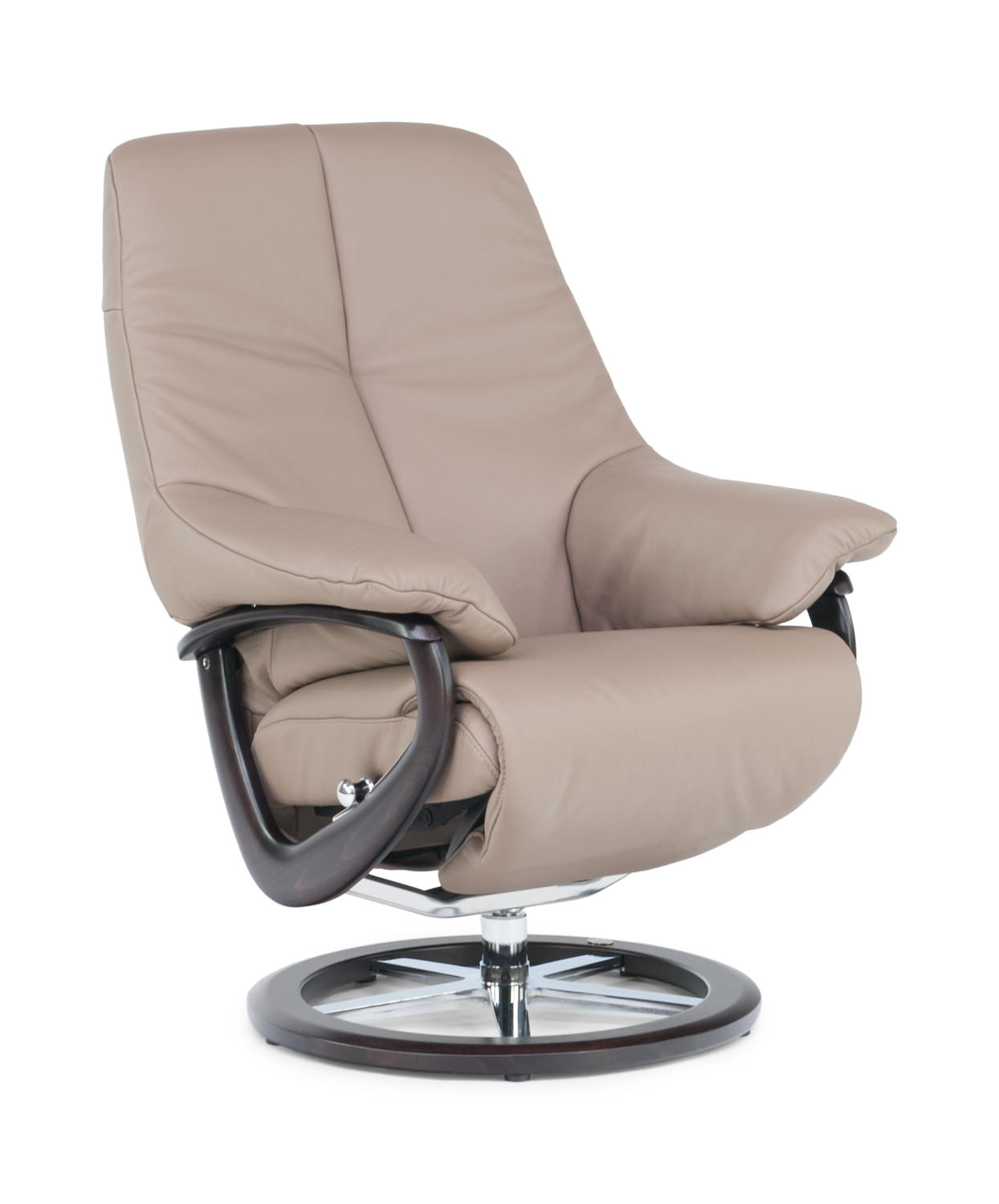 Europe leather swivel recliner