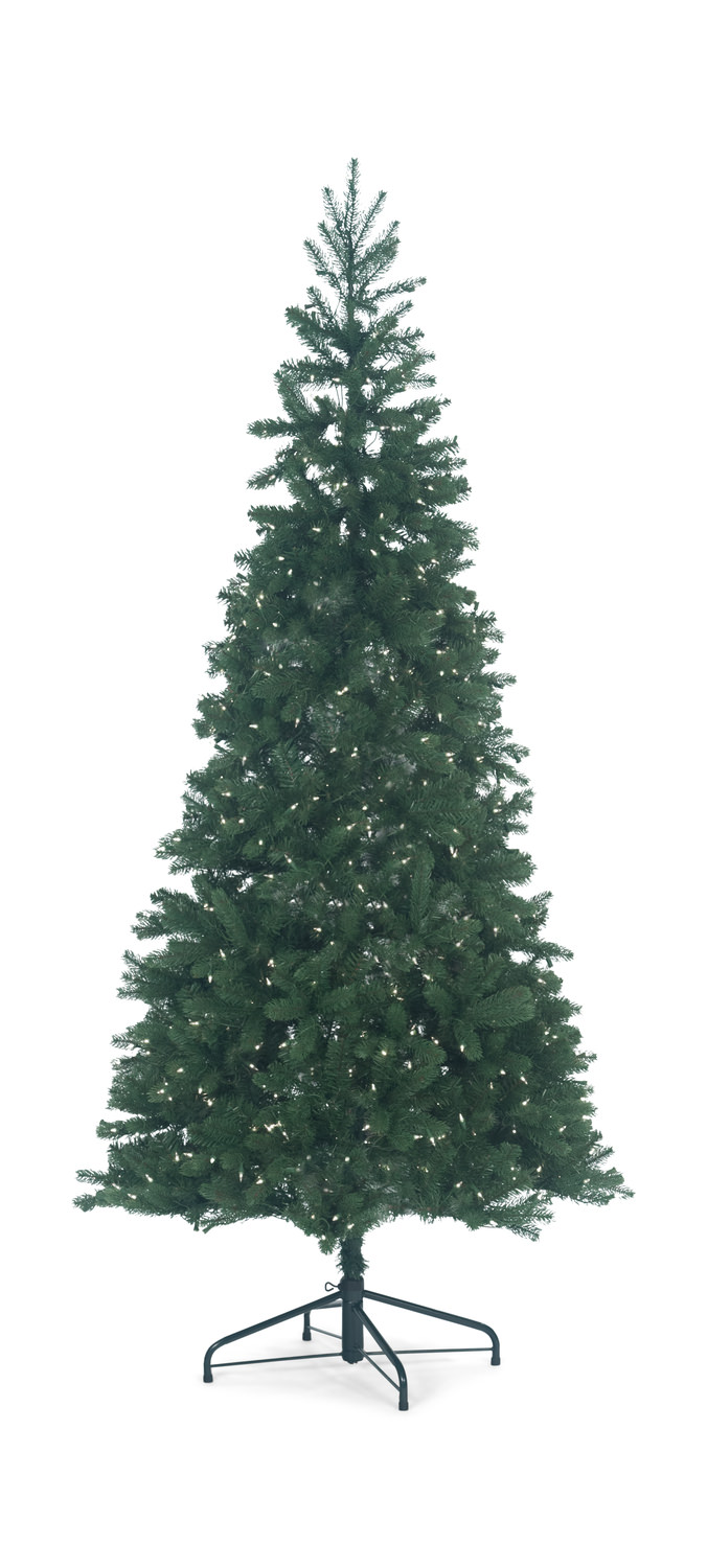 Monterey Pine 7.5′ Slim Artificial Christmas Tree With Clear Lights