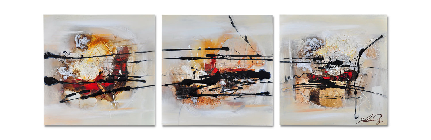 Abstract Canvas Art Set Of 3