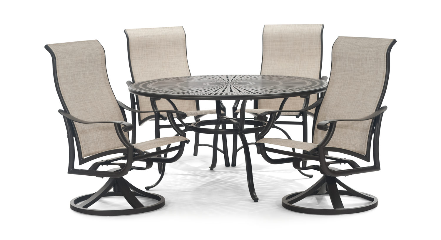 Montreux II 5 Piece Patio Dining Set   Cast Aluminum ...