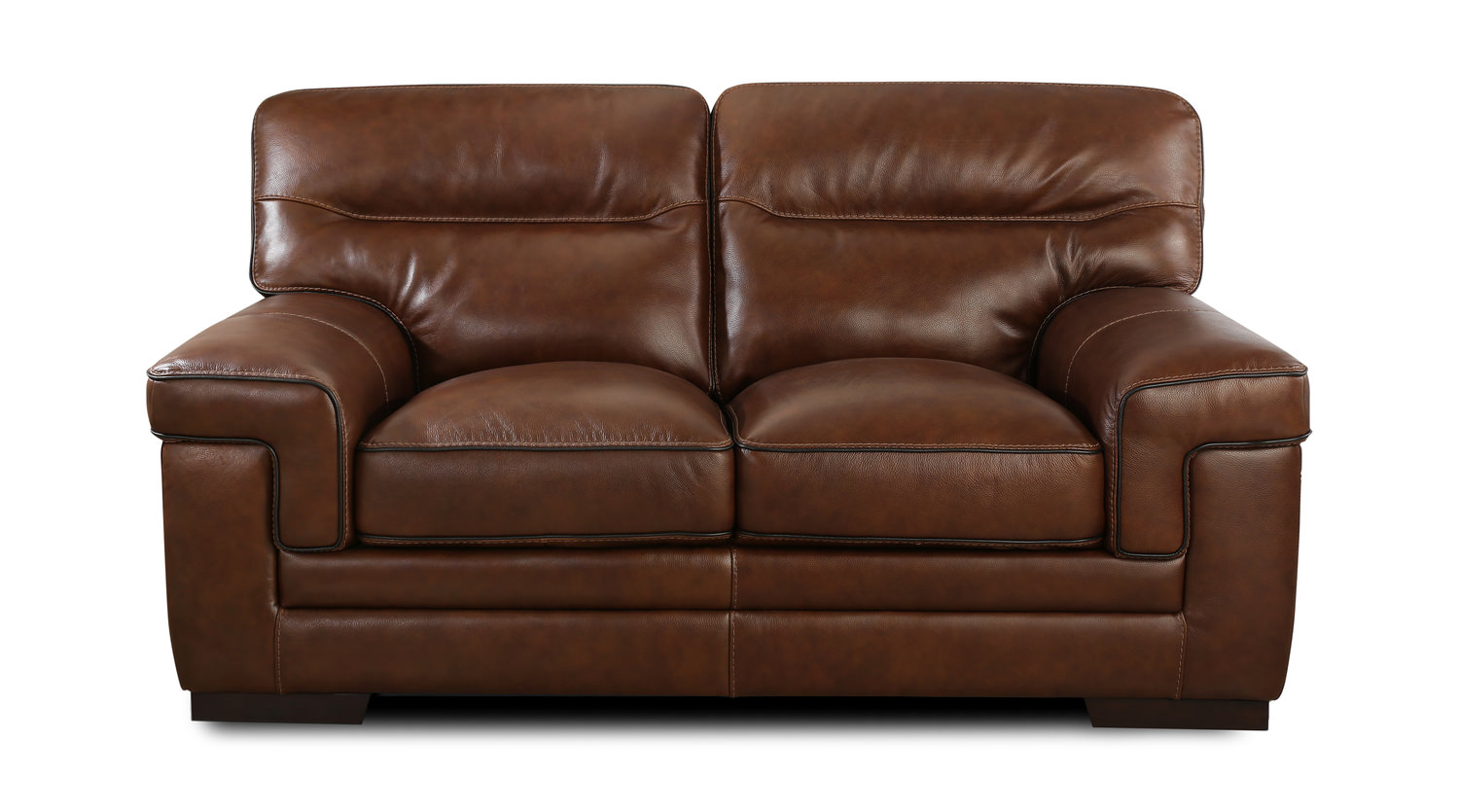 100% Genuine Leather, The Lancia Loveseat Offers Plush Comfort With Its  Supple Thick Leather, Deep Seat Cushions, Supportive Sectioned Off Back And  Padded ...