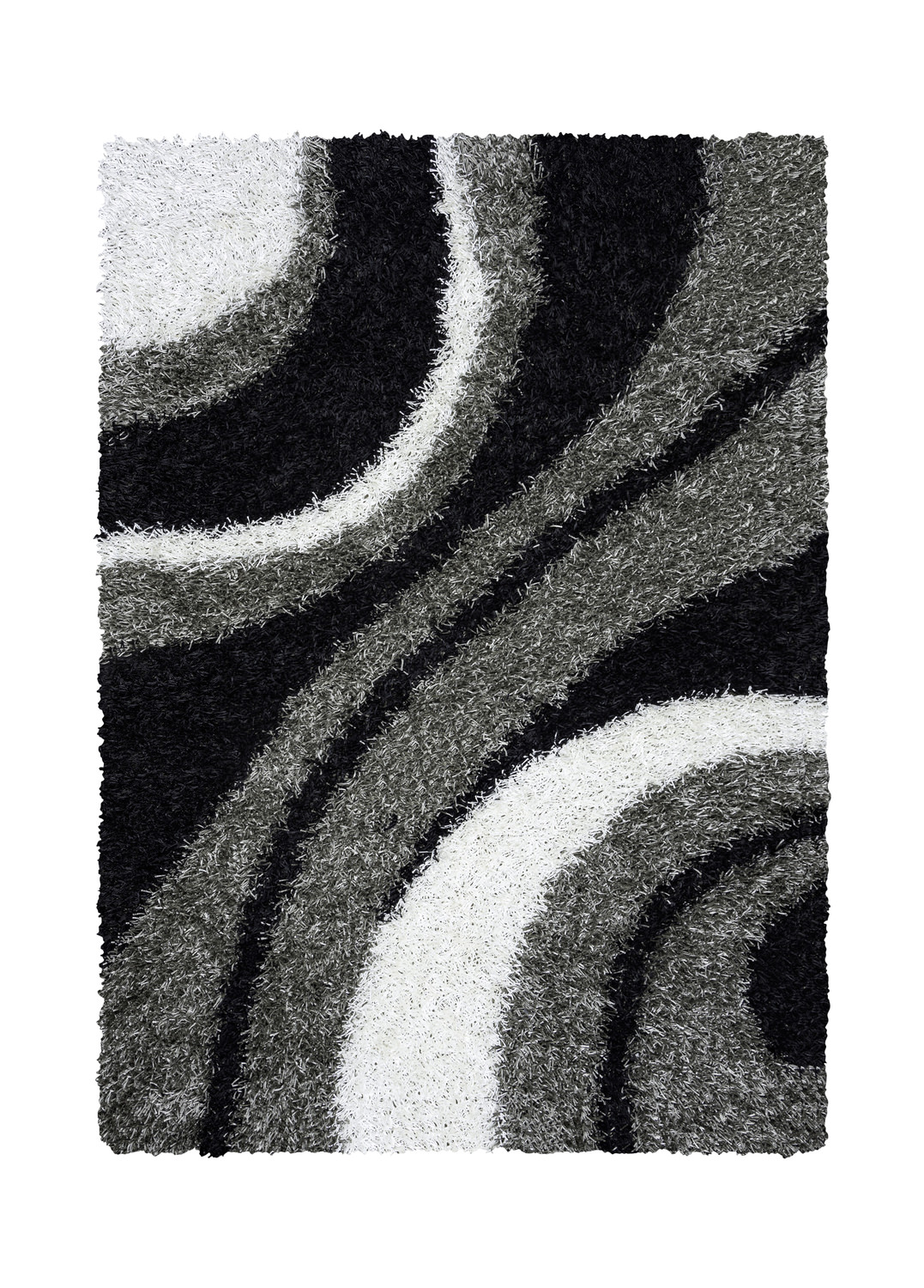 Kempton Black White Area Rug