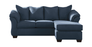 Image Almath Sofa With Reversible Chaise Blue