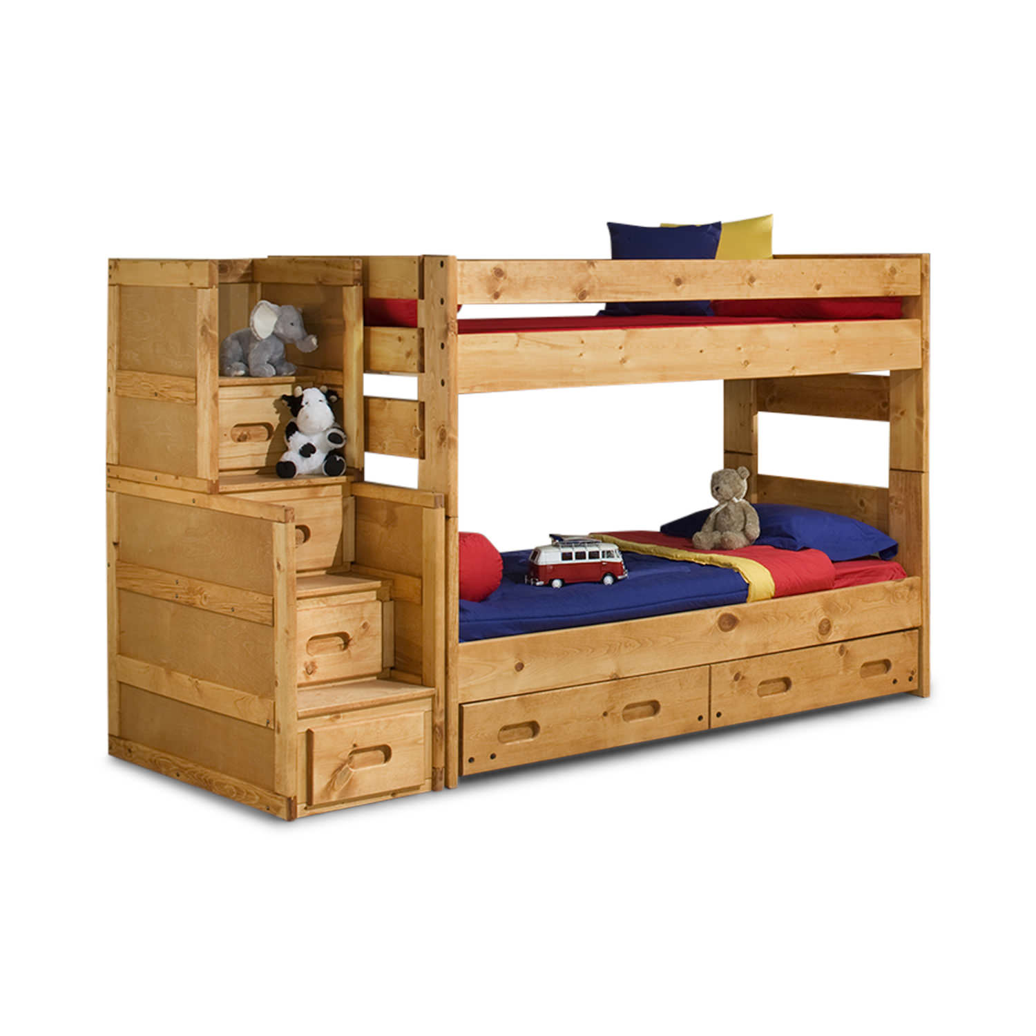 Wrangler T T Bunk Bed With Stairway Chest Hom Furniture