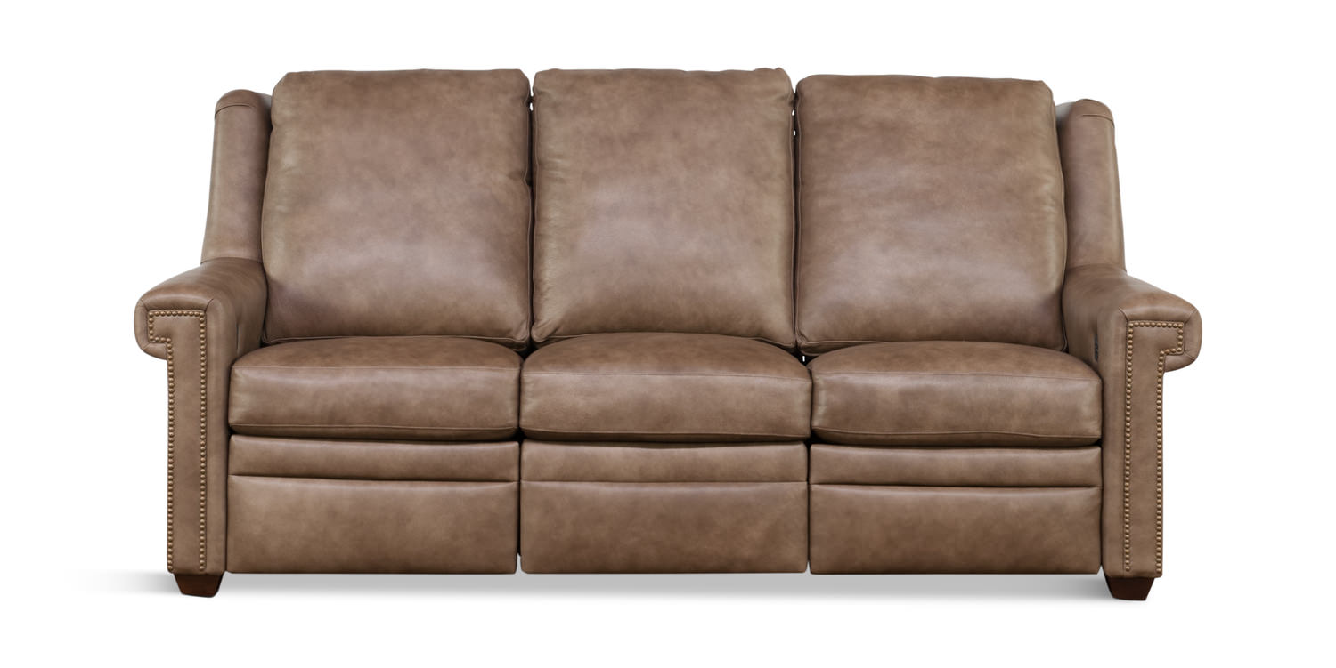 Ellis Leather Reclining Sofa ...