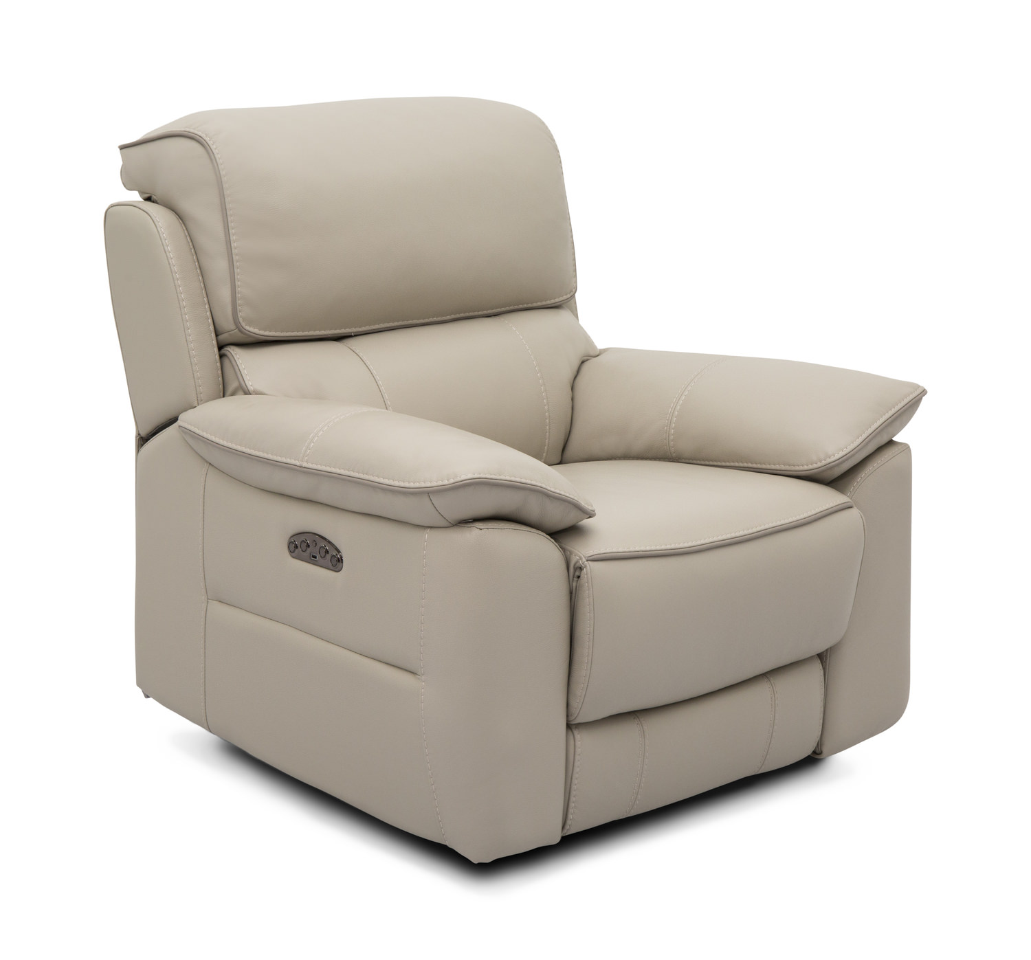 Jordana Leather Power Recliner By Thomas Hom Furniture