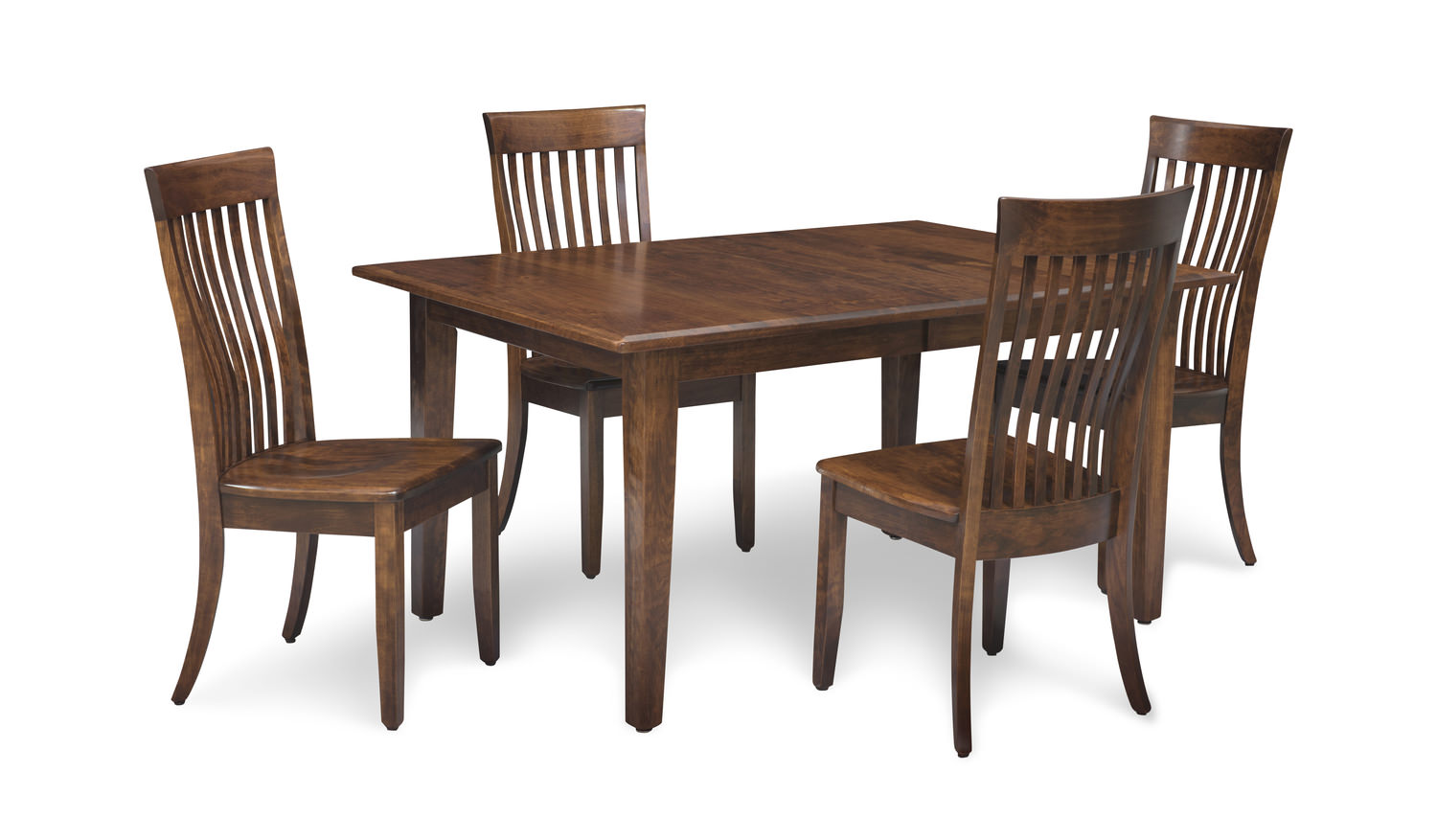 Portland Leg Table With 4 Chairs Hom Furniture