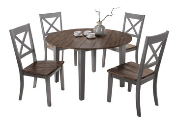 image A La Carte Round Table And 4 Chairs - Grey  sc 1 st  HOM Furniture & Dining Sets u2013 Kitchen u0026 Dining Room Sets u2013 HOM Furniture