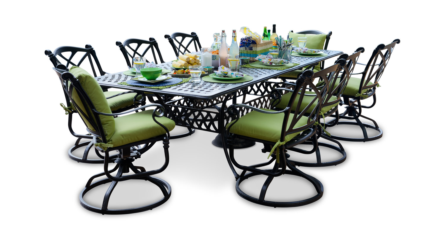 Napa 9 Piece Patio Dining Set By Furniture Hom Furniture