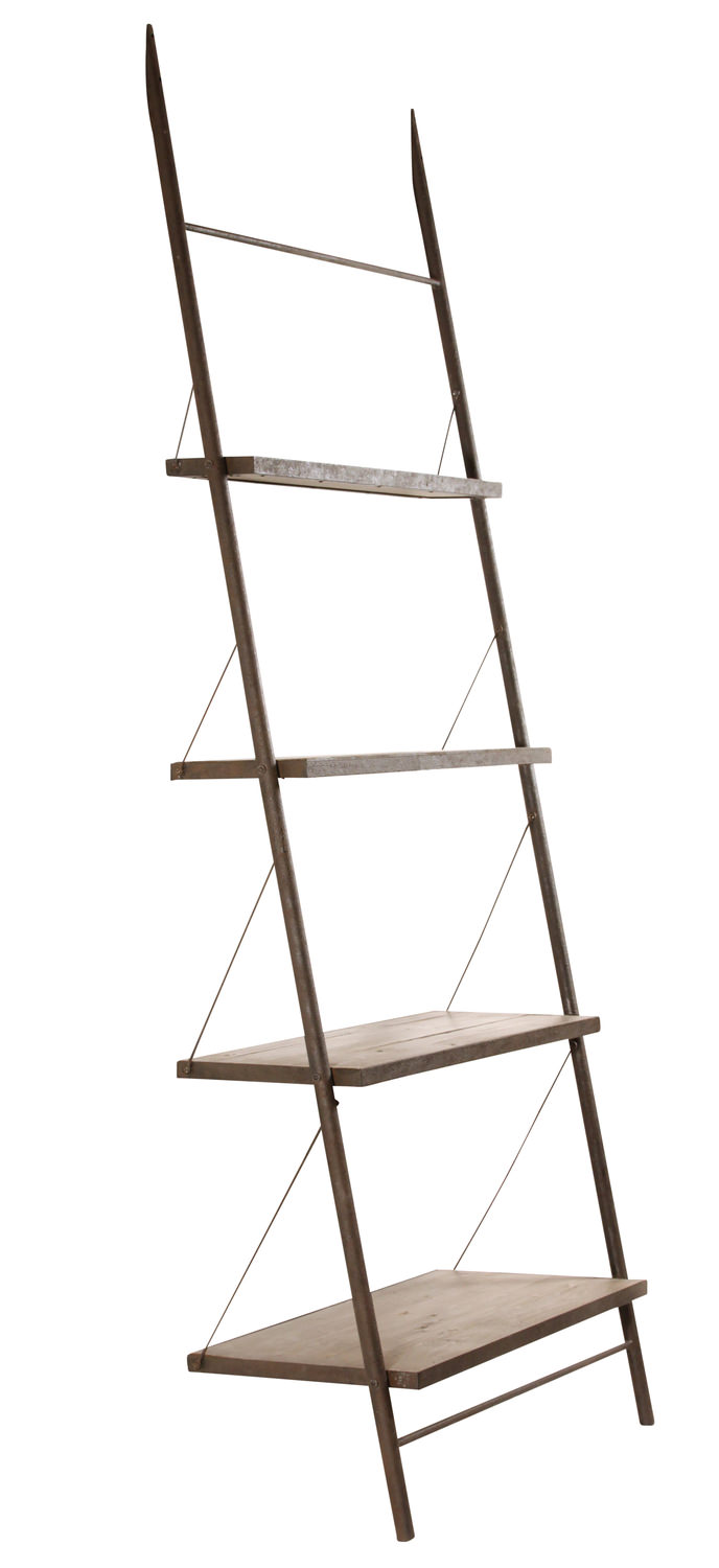 Baldwin Industrial Ladder Bookcase Hom Furniture