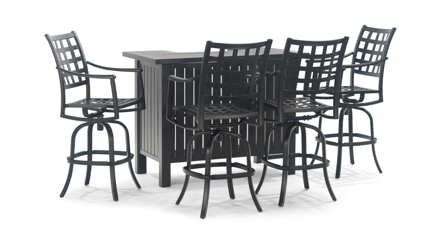 Stratford 5 Piece Party Bar Set By Hanamint Hom Furniture