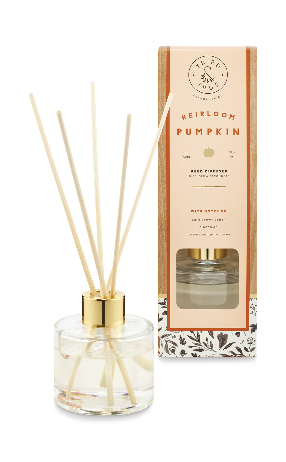 Fall Scented Reed Diffuser Heirloom Pumpkin