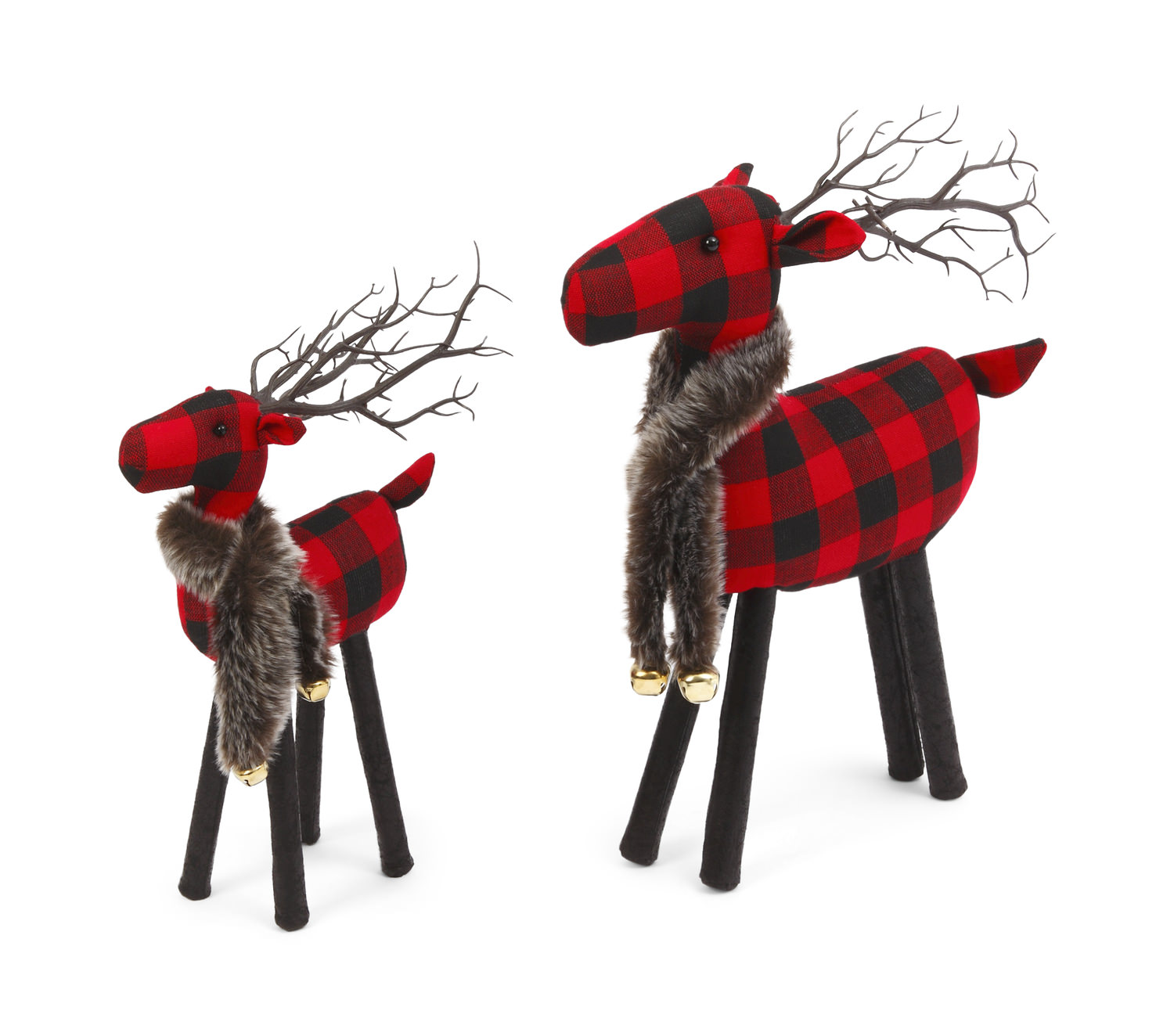 Buffalo Plaid Deer Set Of 2 Hom Furniture