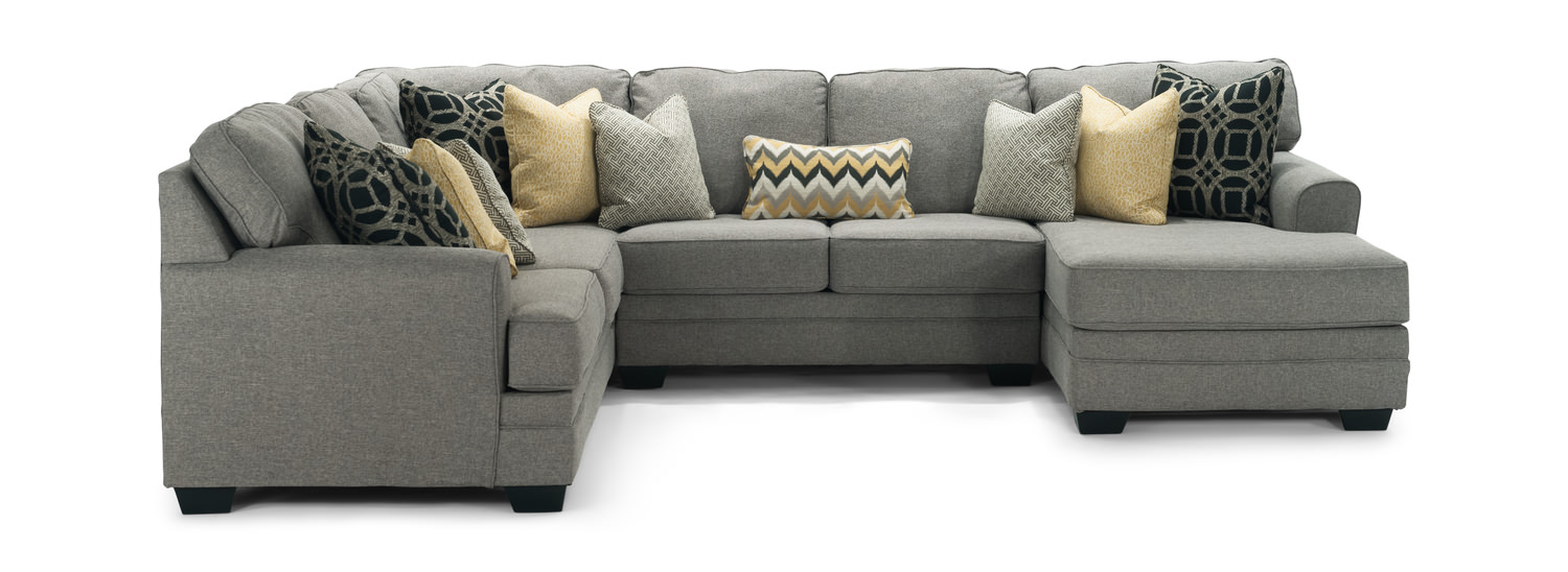 City 4 Piece Modular Sectional Right Arm Facing Chaise