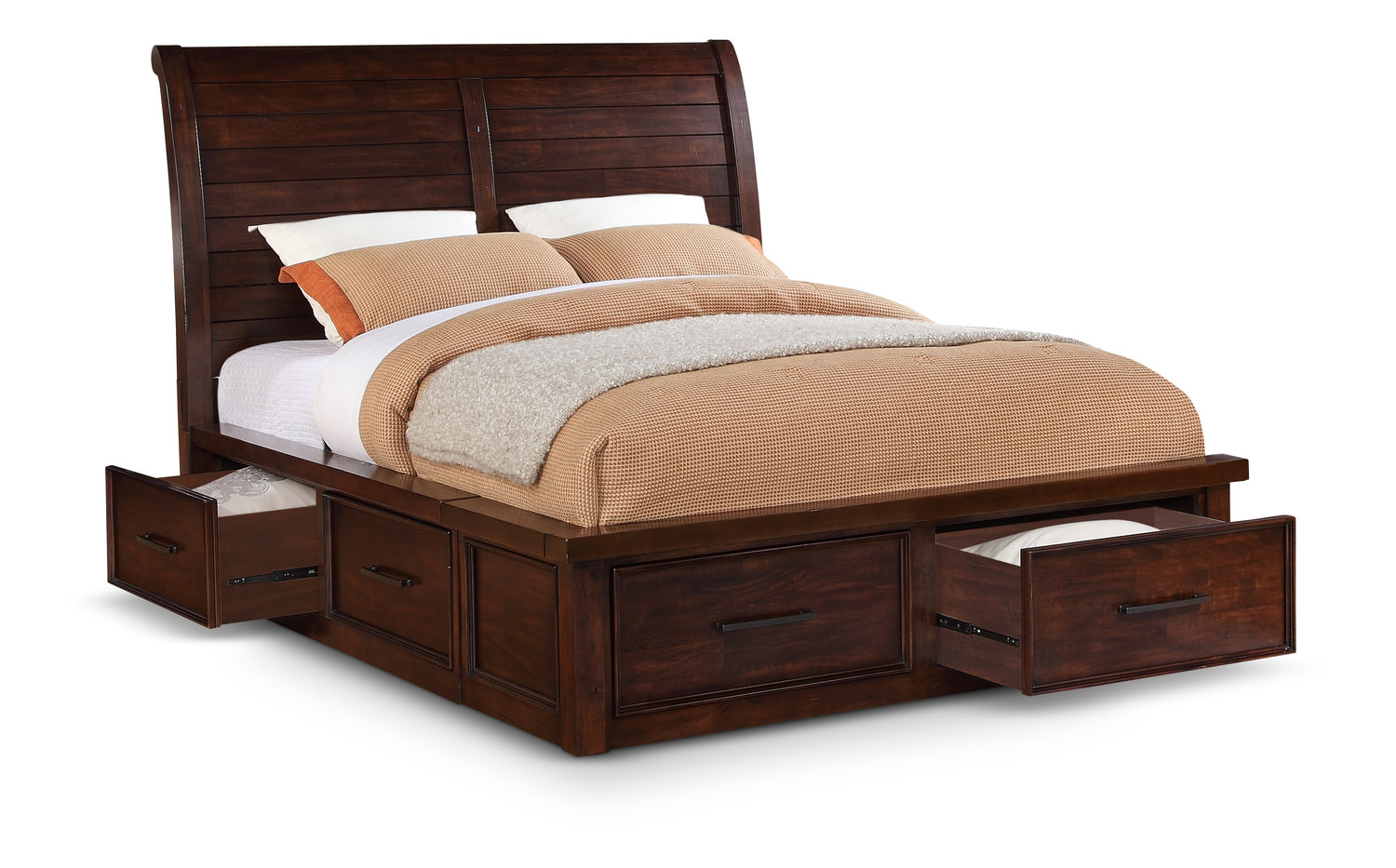Delray sleigh bed with underbed storage by thomas cole designs hom furniture Queen bedroom sets with underbed storage