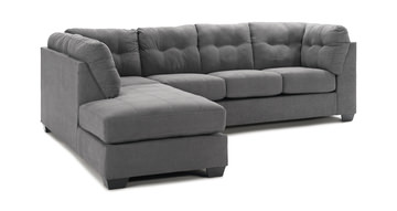 Image Crosby 2 Piece Modular Sectional With LAF Chaise   Charcoal