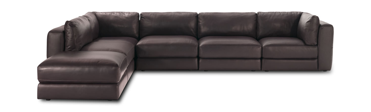 Interchange 6 Piece Leather Modular Sectional