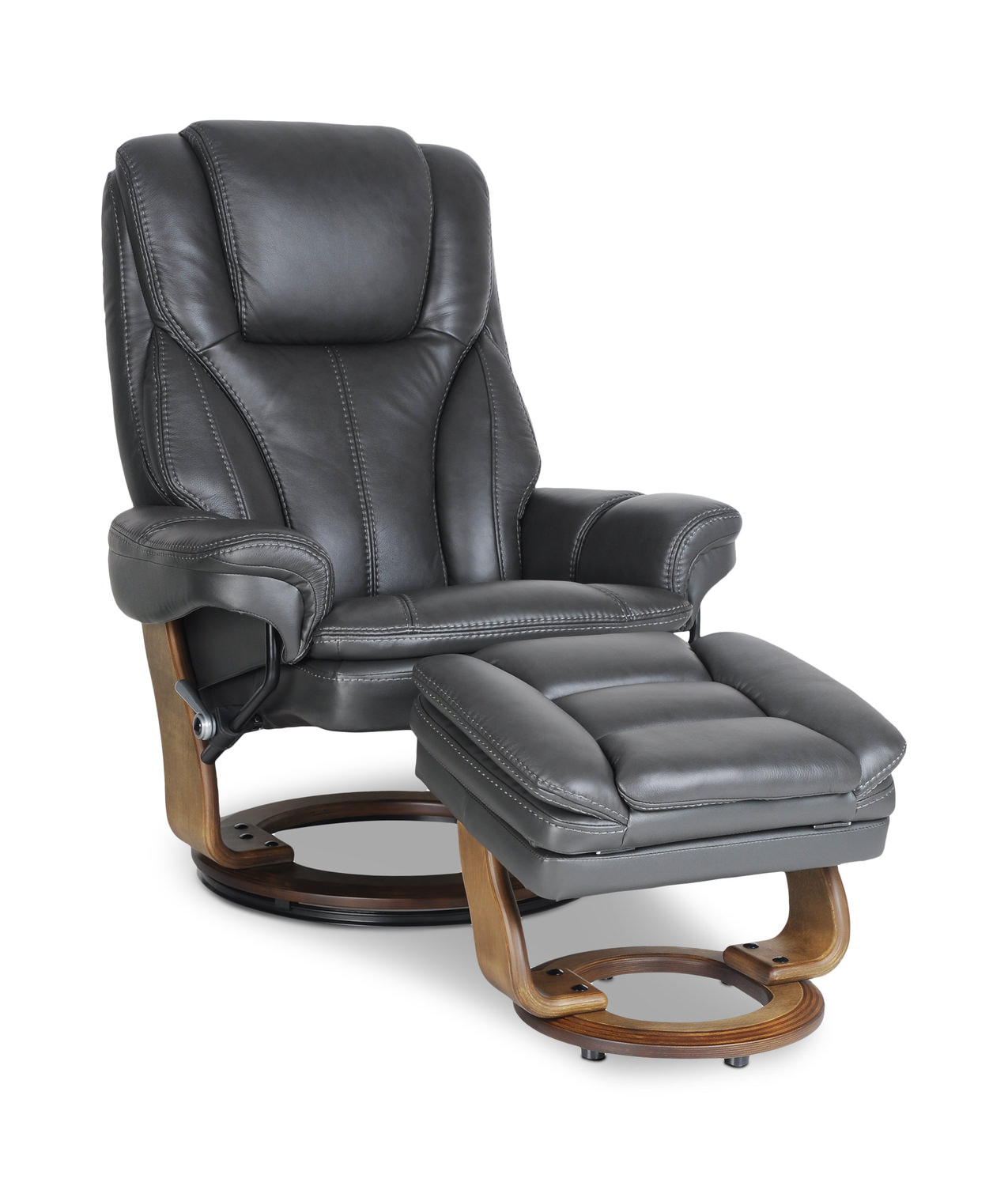 Stupendous Barley Leather Swivel Recliner And Ottoman Ibusinesslaw Wood Chair Design Ideas Ibusinesslaworg