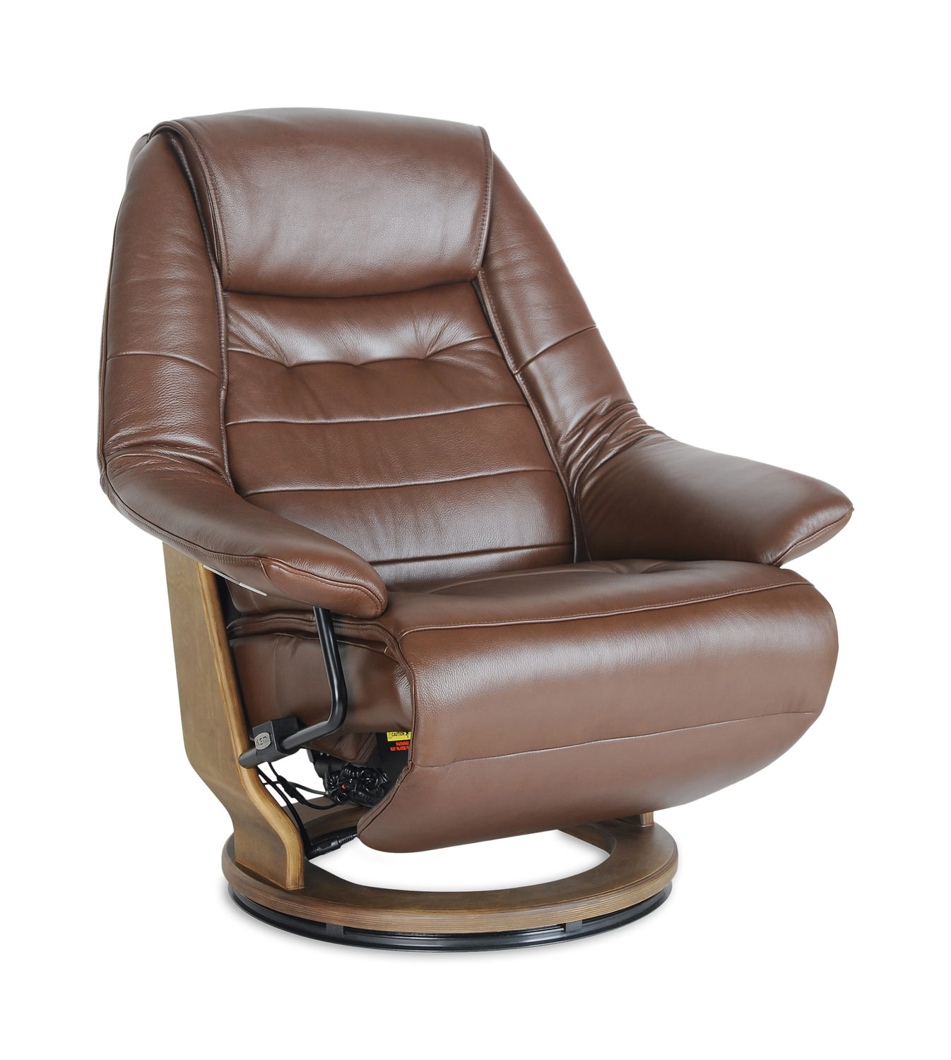 Durham Leather Power Swivel Recliner Hom Furniture
