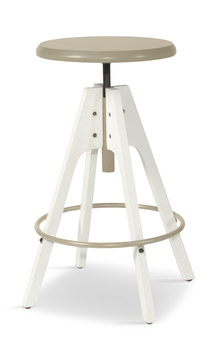 7f10de9dcca HOM Furniture HOM Furniture. spacer. image Telford Adjustable Height Stool  - White
