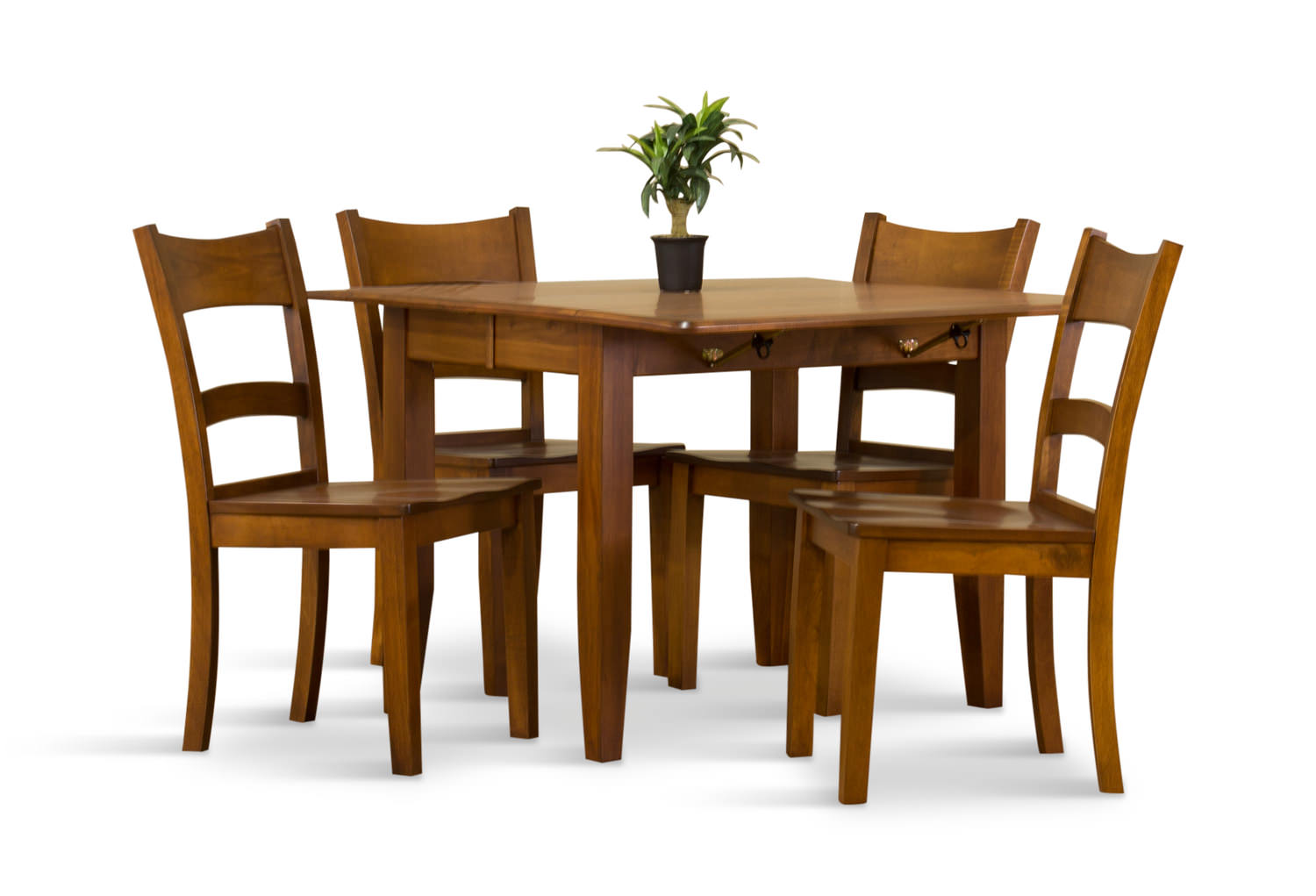 Amish Drop Leaf Table With 4 Chairs | DOCK86