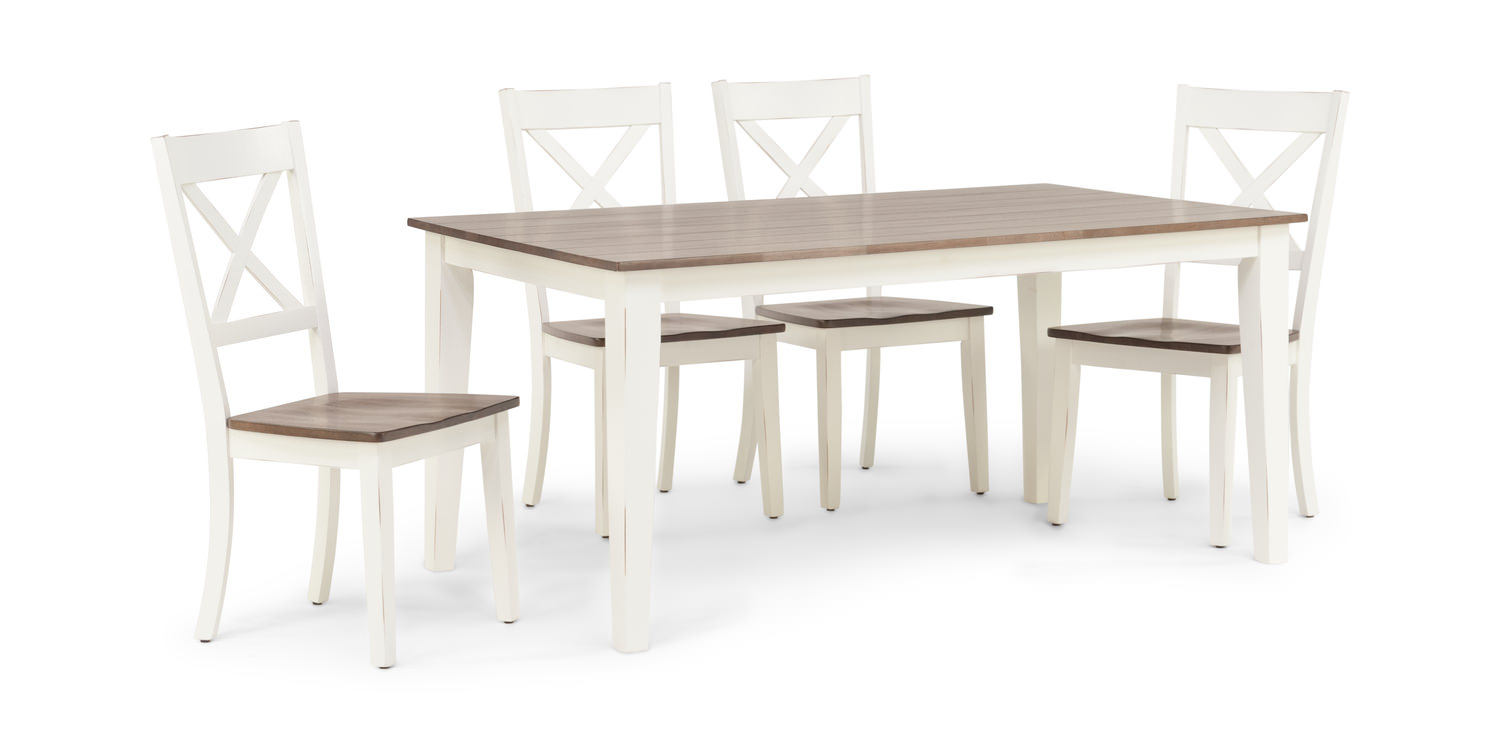 073f4d065d4 A La Carte Dining Table And 4 Chairs - White
