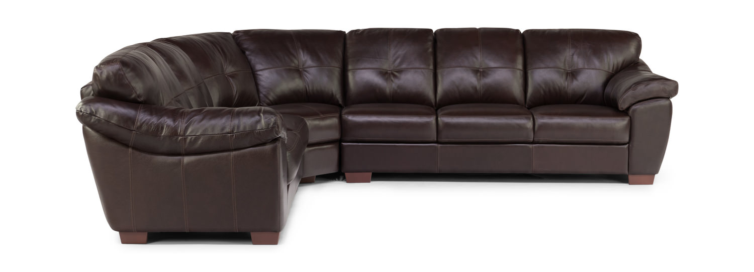 Phoenix 3 Piece Leather Sectional Right Arm Facing Sofa